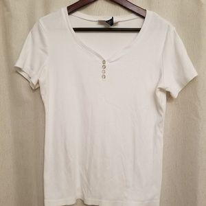Karen Scott White Tee Shirt